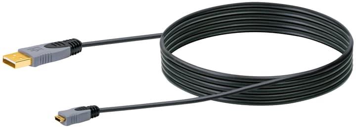 Cable USB 2.0 HQ 2m noir, USB 2.0 typeA / Mini-USB Schwaiger 613184200000 Photo no. 1