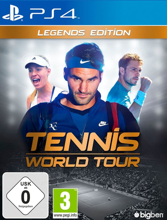PS4 - Tennis World Tour - Legends Edition (D/F) Fisico (Box) 785300132956 Piattaforma Sony PlayStation 4 N. figura 1