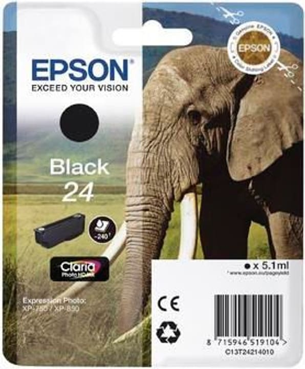 T24  schwarz Tintenpatrone Epson 795826300000 Bild Nr. 1