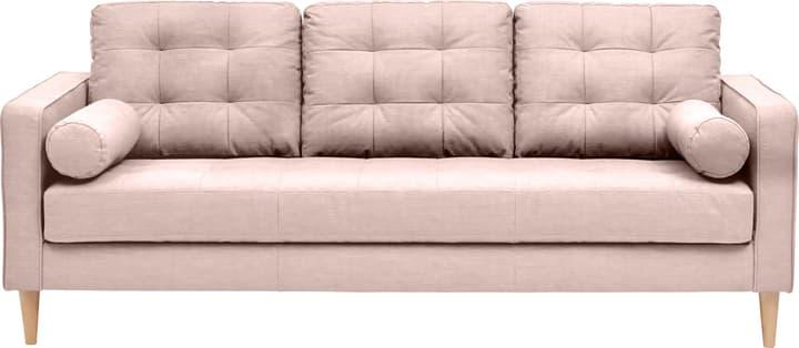 SEIFERT 3er-Sofa 405711630338 Farbe Rosa Grösse B: 204.0 cm x T: 81.0 cm x H: 81.0 cm Bild Nr. 1
