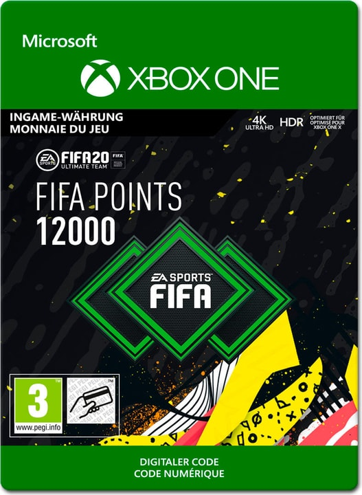 Xbox One - FIFA 20 Ultimate Team: 12000 Points Download (ESD) 785300147124 Photo no. 1