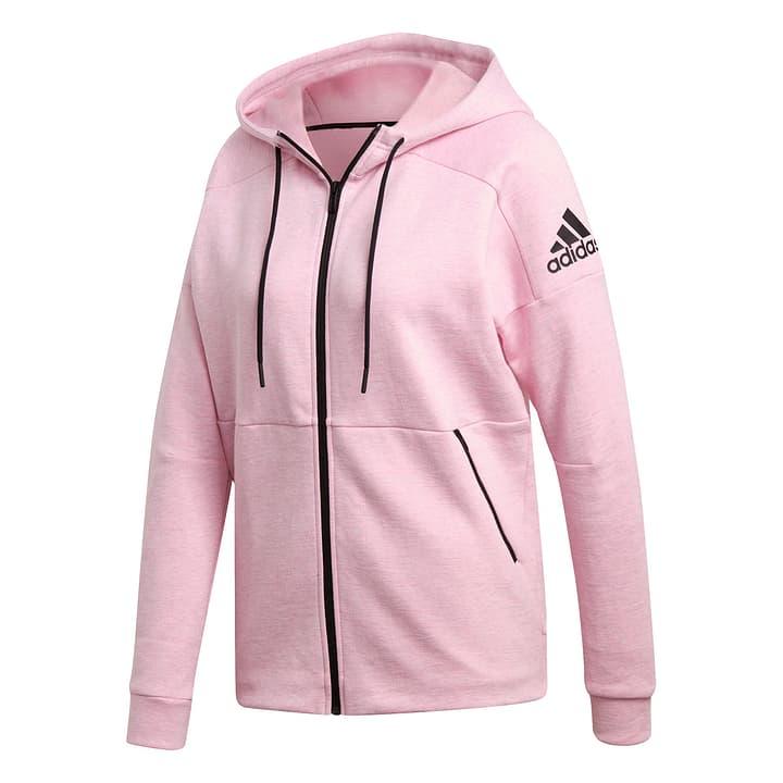 W ID Stadium Hoodie Damen-Kapuzenjacke Adidas 462378400329 Farbe pink Grösse S Bild-Nr. 1