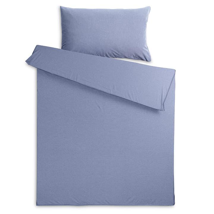 JENA Taie d'oreiller jersey 376015346103 Couleur Bleu foncé Dimensions L: 100.0 cm x L: 65.0 cm Photo no. 1