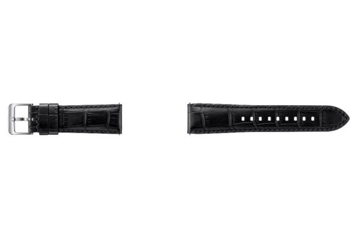Gear S3 Alligator Leather Band nero Samsung 798082300000 N. figura 1
