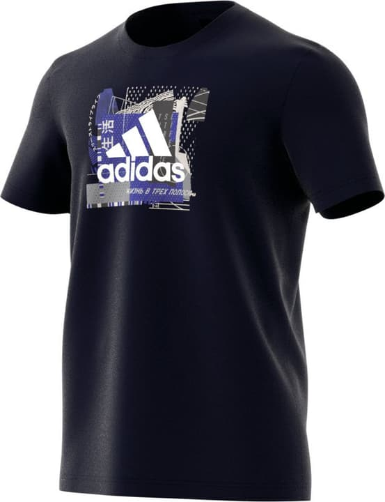 MH Bos Graph 2 T-shirt da uomo Adidas 464207200343 Colore blu marino Taglie S N. figura 1