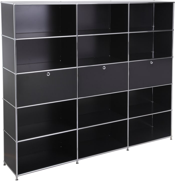 FLEXCUBE Etagère 401815730520 Dimensions L: 227.0 cm x P: 40.0 cm x H: 193.0 cm Couleur Noir Photo no. 1