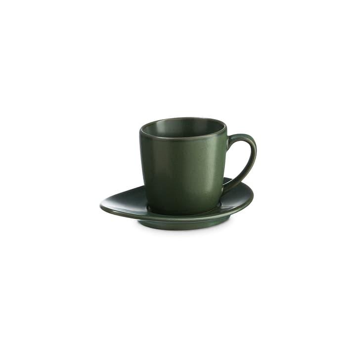 CUBA Tasse à espresso inkl. Souscoupe ASA 393219800660 Couleur Vert Dimensions L: 5.5 cm x P: 5.5 cm x H: 5.0 cm Photo no. 1