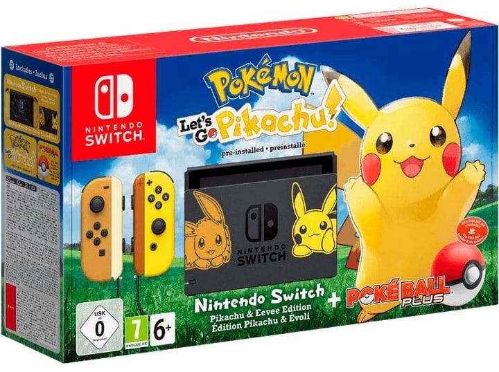 Switch Pokémon: Let's Go Pikachu!  inkl. Pokèball Plus Konsole Nintendo 785439800000 Bild Nr. 1
