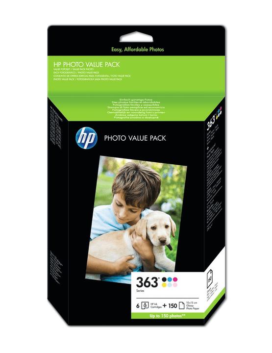 Q7966EE Bundle Cartouches d'encre nr. 363 color et papier photo Cartouche d'encre HP 797476500000 Photo no. 1