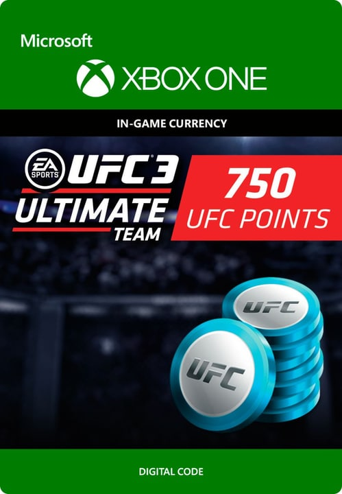 Xbox One - UFC 3: 750 UFC Points Download (ESD) 785300135552 N. figura 1