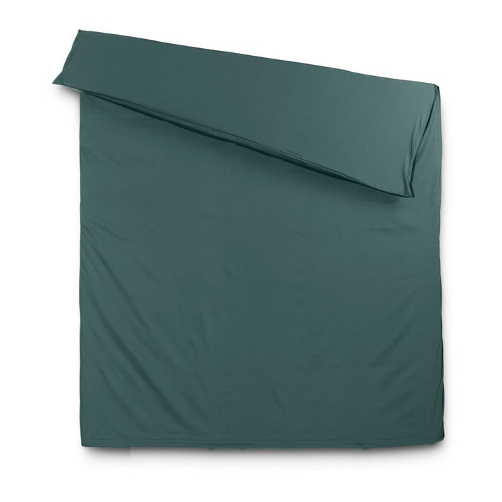 KOS Satin-Duvetbezug 376004814104 Farbe Smaragd Grösse L: 210.0 cm x B: 160.0 cm Bild Nr. 1