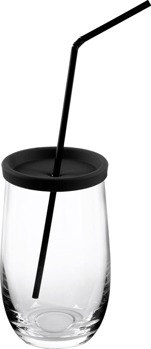 ADVENTURE Trinkglas mit Strohhalm 444854300000 Bild Nr. 1
