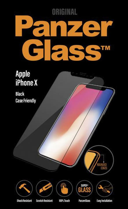 Case Friendly iPhone X - nero Pellicola prottetiva Panzerglass 785300134552 N. figura 1
