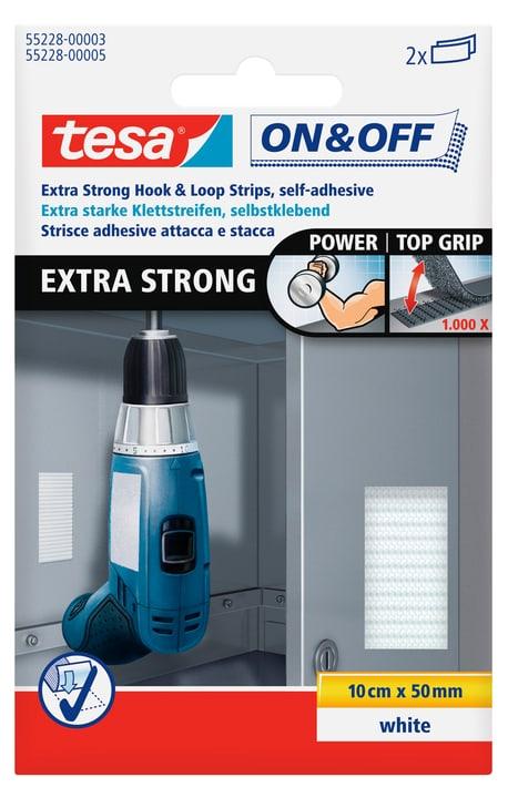 On & Off® Extra Stark Klettstreifen 50mm:10cm weiss Tesa 663080300000 Bild Nr. 1