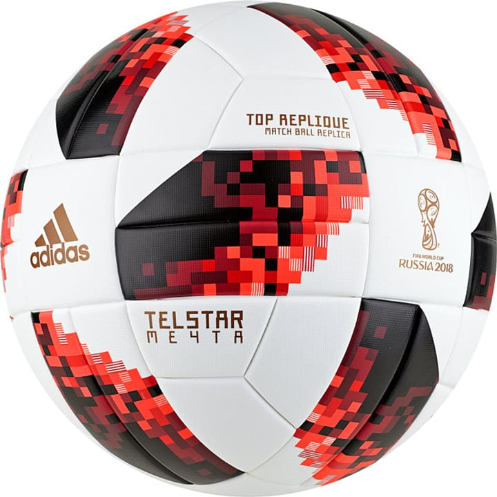 World Cup Top Knockout Replique Pallone da calcio Adidas 461937200510 Colore bianco Taglie 5 N. figura 1