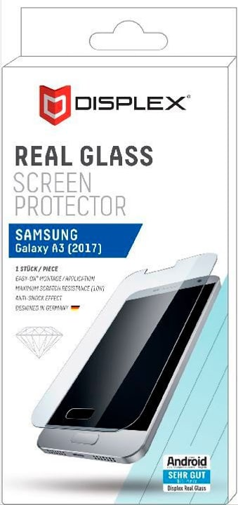 real glass protector pour Galaxy A3 (2017) Protection d'écran Displex 798072700000 Photo no. 1