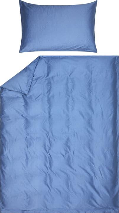 AZUL Fourre de duvet en satin 451194412340 Couleur Bleu Dimensions L: 160.0 cm x H: 210.0 cm Photo no. 1