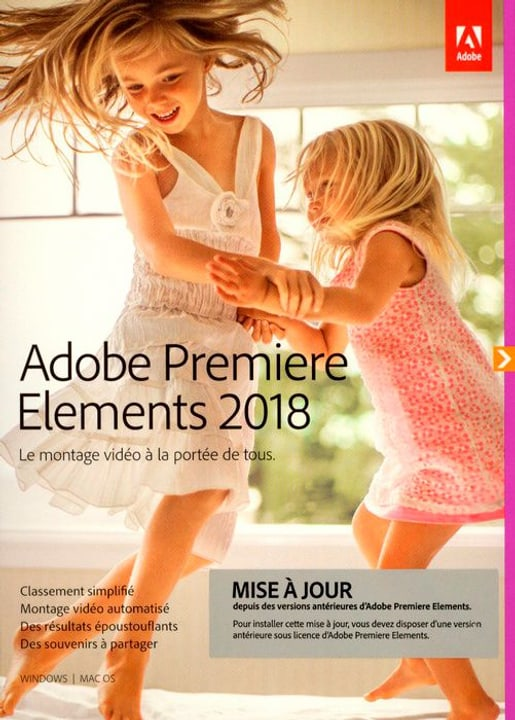 PC/Mac - Premiere Elements 2018 Upgrade (F) Physique (Box) Adobe 785300130206 Photo no. 1