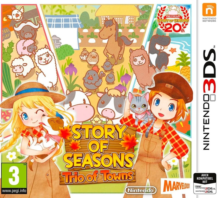 3DS - Story of Seasons: Trio of Towns Box 785300129391 N. figura 1