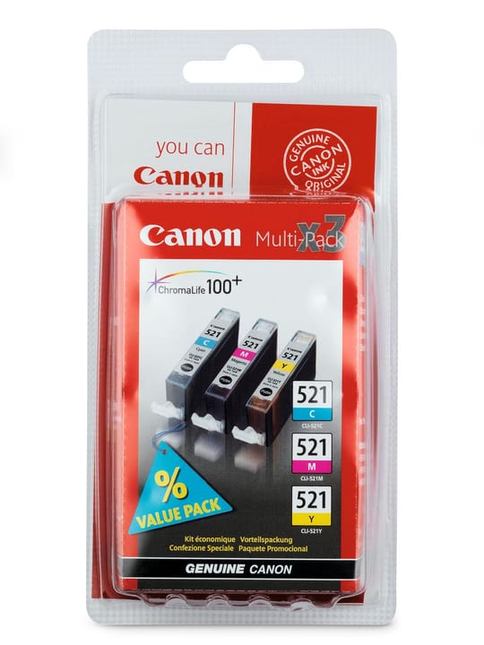 CLI-521 Multipack Tintenpatrone Tintenpatrone Canon 797510000000 Bild Nr. 1