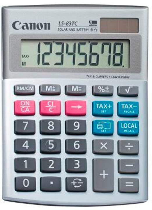Calculatrice LS-83TC 8-chiffres argent/gris Calculatrice Canon 785300151131 Photo no. 1