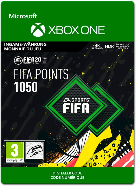 Xbox One - FIFA 20 Ultimate Team: 1050 Points Download (ESD) 785300147123 Photo no. 1