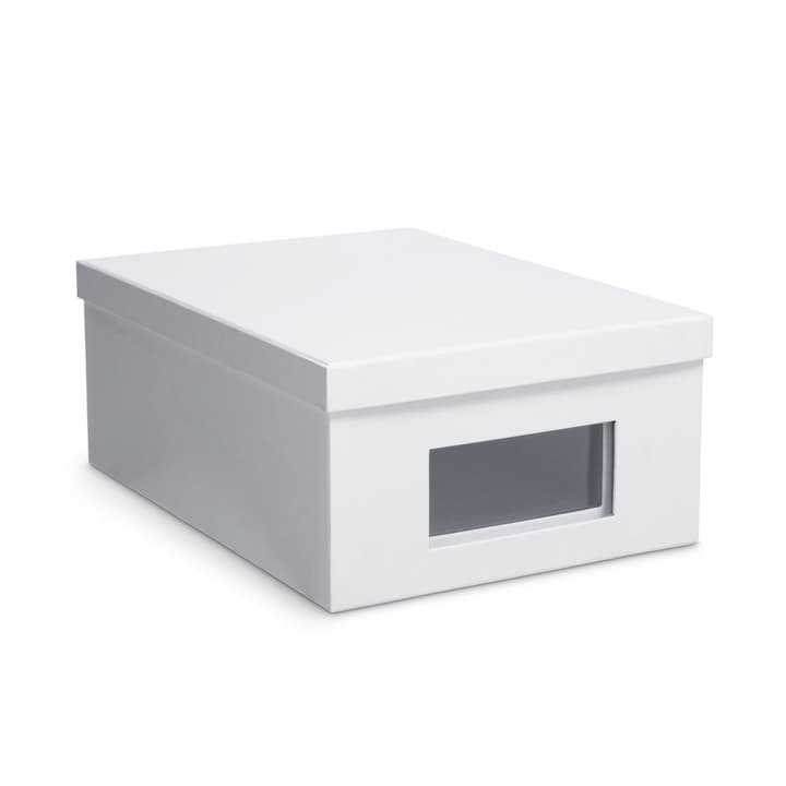 BIGSO CLASSIC Boîte de rangement à fenêtre 386069000000 Dimensions L: 36.5 cm x P: 26.0 cm x H: 14.5 cm Couleur Blanc Photo no. 1