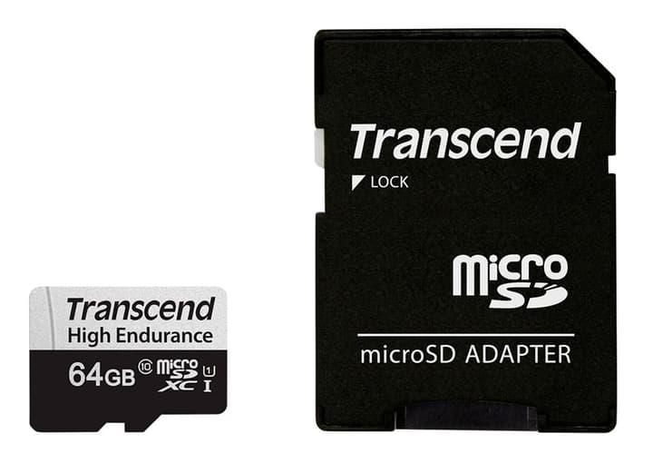 microSDXC Card 350V, 64GB SDXC inkl. Adattatore Scheda di memoria microSD Transcend 785300147309 N. figura 1