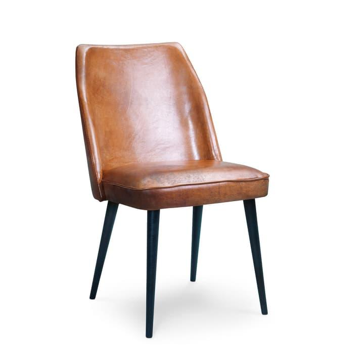LARSSON II Chaise en cuir 366035200000 Dimensions L: 48.0 cm x P: 60.0 cm x H: 88.0 cm Couleur Chameau kaki Photo no. 1