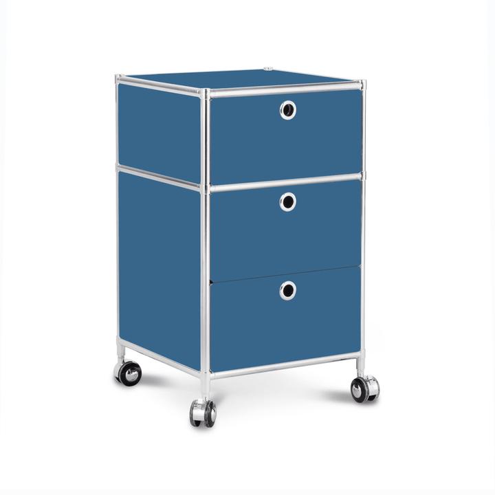 QUADRO Cassettiera 364016900000 Dimensioni L: 40.0 cm x P: 40.0 cm x A: 67.5 cm Colore Blu N. figura 1