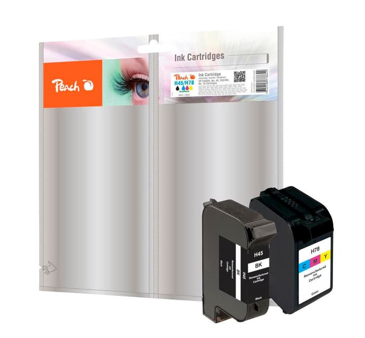 Combi Pack n zu 45/78 schwarz/mehrfarbig Tintenpatrone Peach 785300124638 Bild Nr. 1