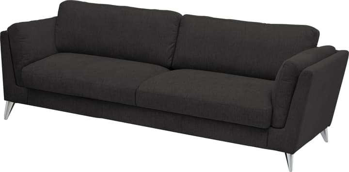 DEGONDA 3er-Sofa 405742230320 Farbe Schwarz Grösse B: 208.0 cm x T: 94.0 cm x H: 81.0 cm Bild Nr. 1