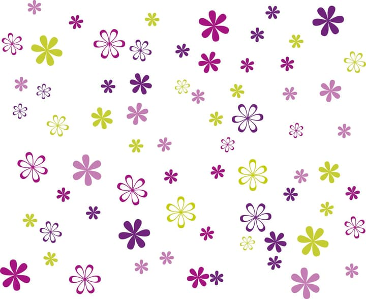 FLOWERS Sticker 433001001500 Dimensions L: 100.0 cm x P: 80.0 cm Photo no. 1