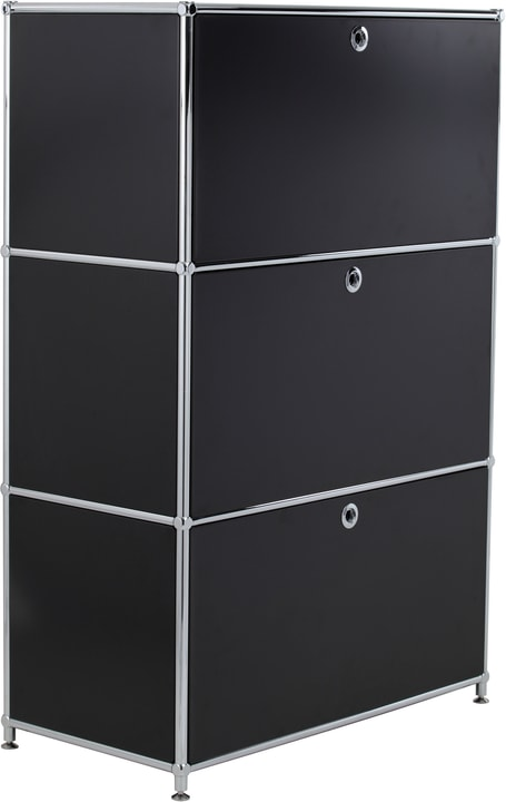 FLEXCUBE Buffet haut 401808700020 Dimensions L: 77.0 cm x P: 40.0 cm x H: 118.0 cm Couleur Noir Photo no. 1
