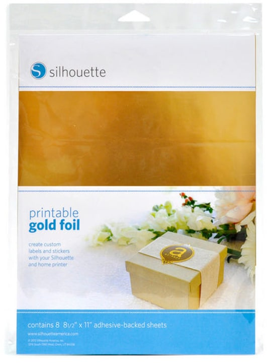 Folie 21,5 cm x 28 cm Gold, bedruckbar Silhouette 785300141885 Bild Nr. 1