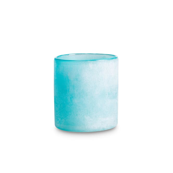 FROSTED Porte-bougies chauffe-plat 396064700000 Dimensions L: 12.0 cm x P: 12.0 cm x H: 14.0 cm Couleur Bleu pastel Photo no. 1