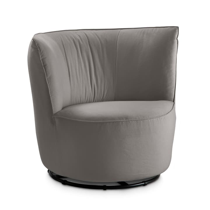 BRONTE Fauteuil 360049527504 Dimensions L: 85.0 cm x P: 80.0 cm x H: 77.0 cm Couleur Gris Photo no. 1