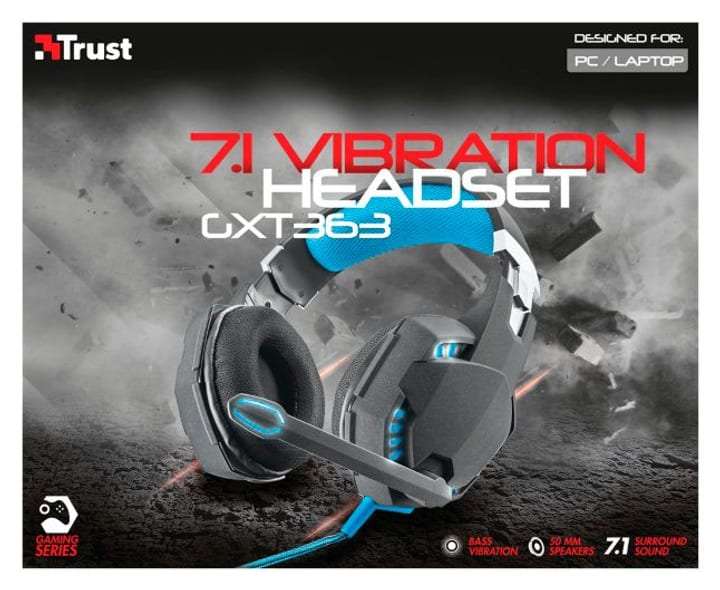 GXT 363 7.1 Bass VibratHeadset Casque On-Ear Trust-Gaming 797972500000 Photo no. 1