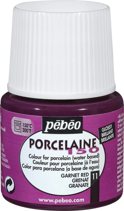 Peinture Porcelaine 150 PÉBÉO Pebeo 663506802411 Couleur Grenat Photo no. 1