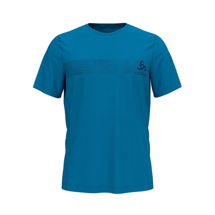 Core Light Print BI Top Crew Herren-T-Shirt Odlo 461285700340 Farbe blau Grösse S Bild-Nr. 1