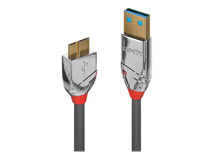 USB 3.0 Typ A - Micro-B Cavo, Cromo Line 0.5m Cavo LINDY 785300141586 N. figura 1