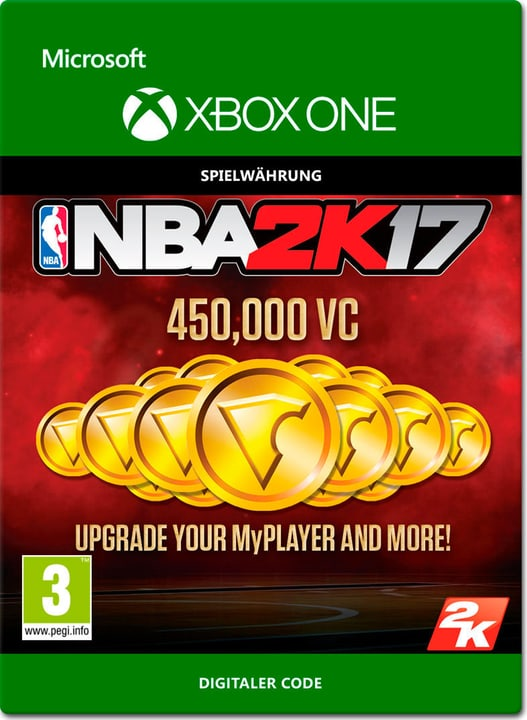 Xbox One - NBA 2K17: 450'000 VC Download (ESD) 785300137381 Bild Nr. 1