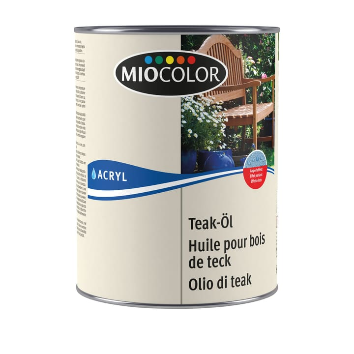 mc olio di teak 2.5l Incolore 2.5L Miocolor 661333800000 N. figura 1