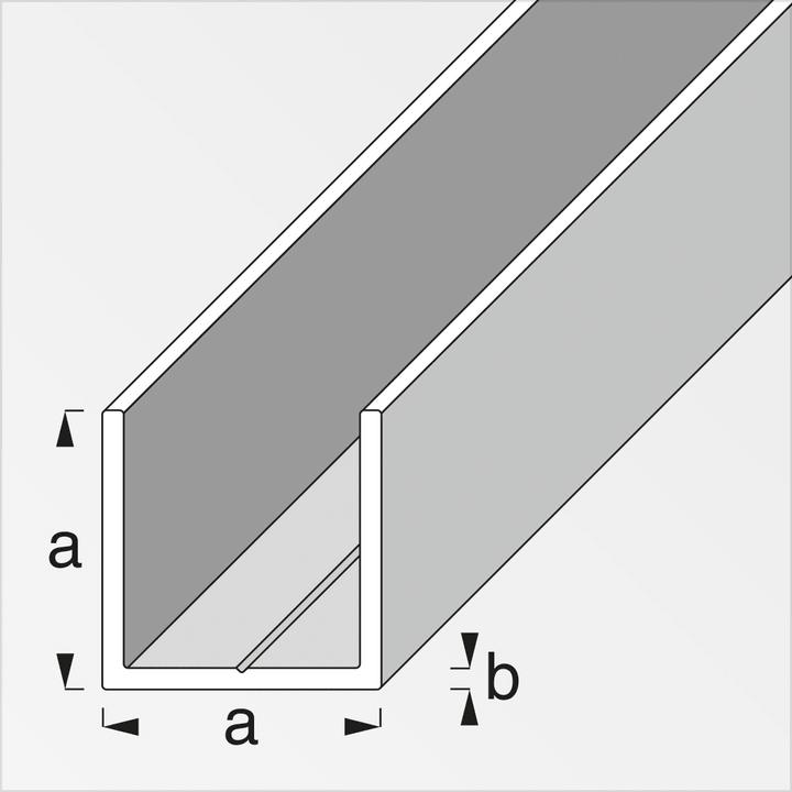 Quadrati a U alfer 605005700000 Tipo Profilo a U Taglio a 11,5 mm x b 1,5 mm x 1 m N. figura 1