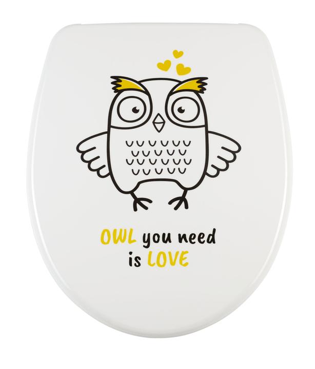Siège de WC Nice Slow Down Owl diaqua 675498500000 Photo no. 1