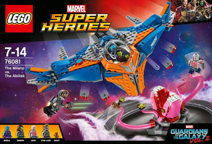 Lego Marvel Super Heroes Le vaisseau Milano contre l'Abilisk 76081 748858200000 Photo no. 1