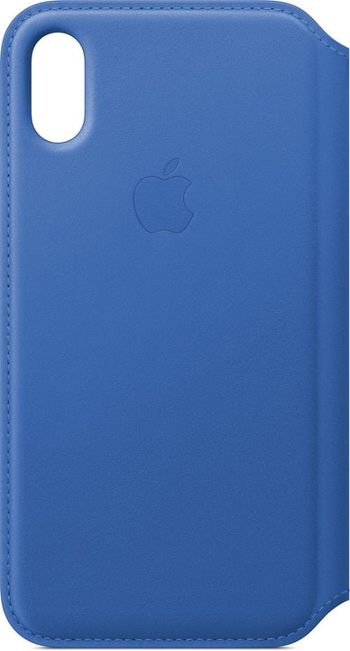 Leather Folio iPhone X Electric Blue Coque Apple 785300135048 Photo no. 1