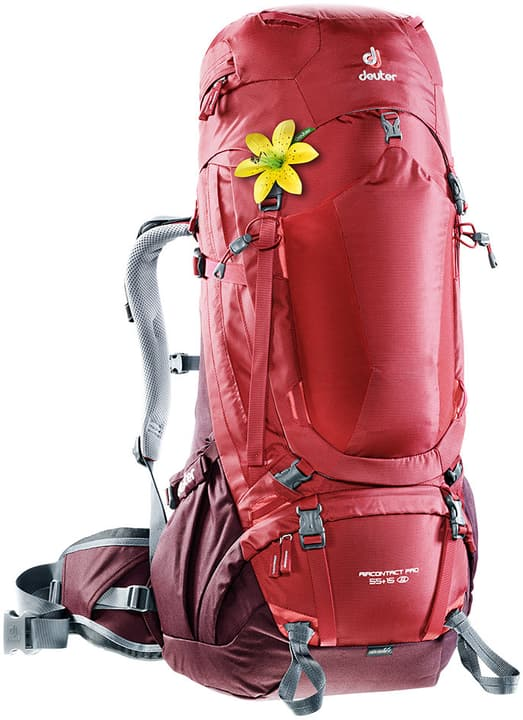 Aircontact Pro 55+15 SL Sac à dos pour femme Deuter 460235800030 Couleur rouge Taille Taille unique Photo no. 1