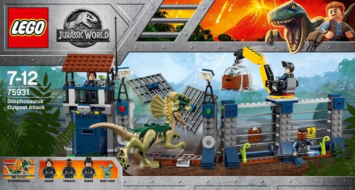 Lego Jurassic World Attacco all'avamposto del Dilofosauro 75931 748882000000 N. figura 1