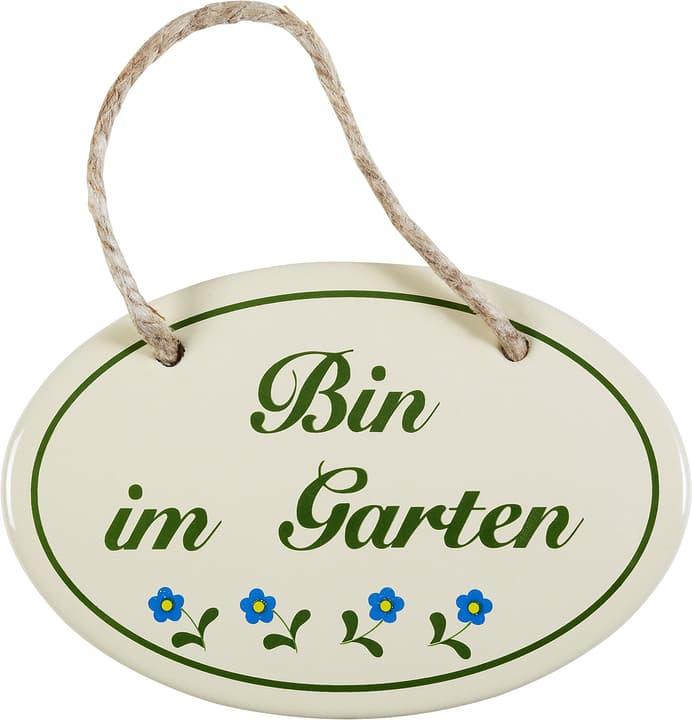 Emailschild Bin im Garten 605076200000 Bild Nr. 1